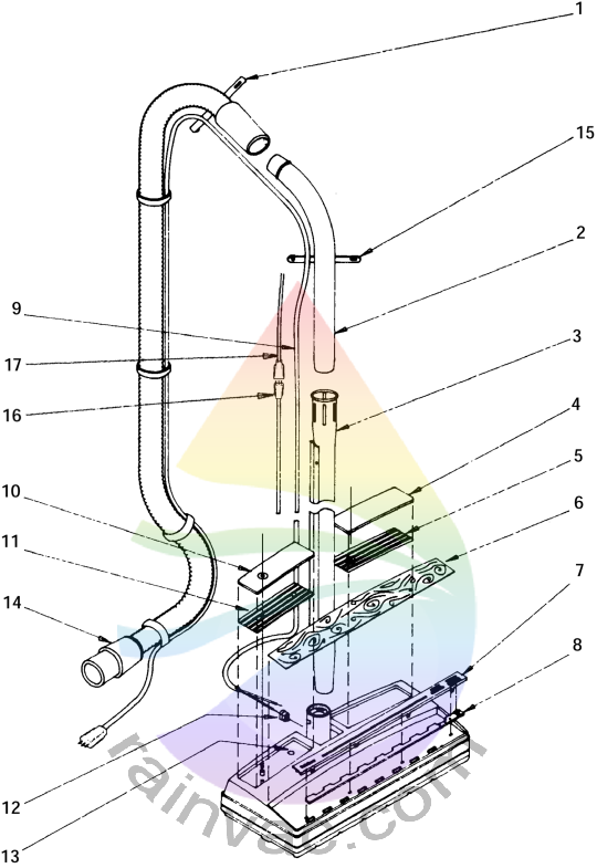 Rainbow Vacuum Power Nozzle Model R-1650A External View