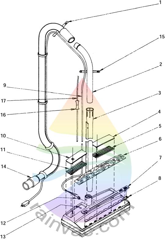 Power Nozzle R-2800C External View Schematics