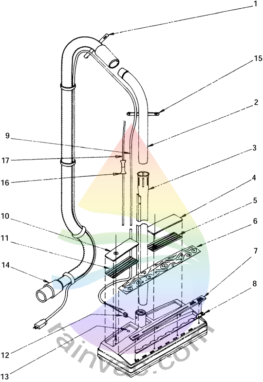 Rainbow Vacuum Power Nozzle R-2800C External View Parts