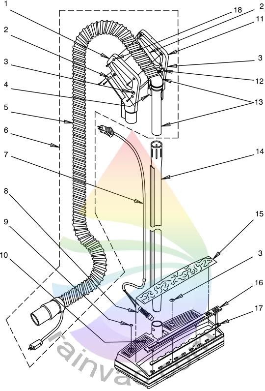 Rainbow Vacuum Power Nozzle R-4375C External View Parts