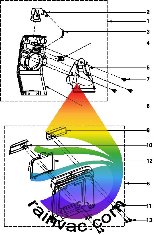 Rainbow Model E-2 e SERIES v2 Face Plate/Rear Schematics