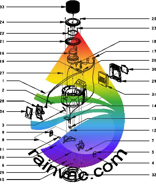 Rainbow Vacuum E-2 (e SERIES™) Version 2 Main Housing Parts