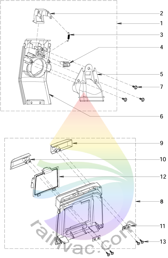 Rainbow Model E-2 e SERIES v2 Face Plate/Rear Schematics