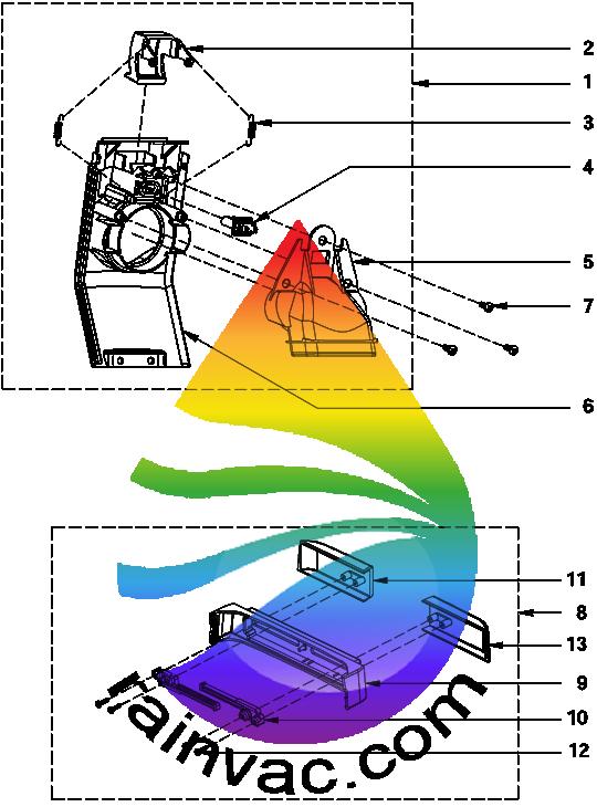 Rainbow Model E-2 e SERIES v1 Face Plate/Rear Schematics