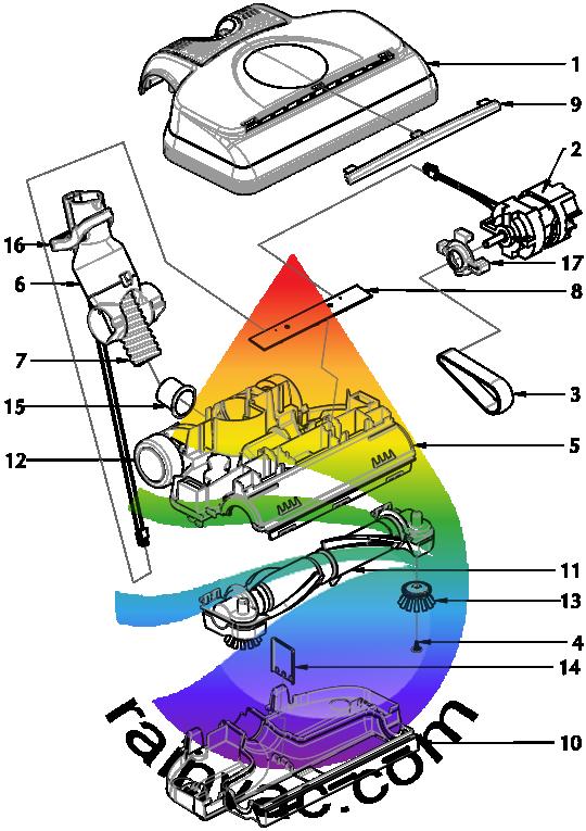 Power Nozzle PN-12 Center Belt Version Schematics