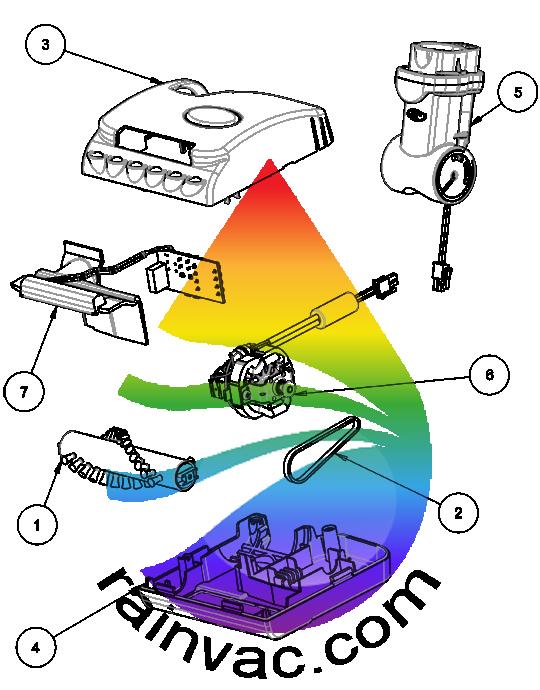 Rainbow Vacuum RainbowMate Model RM-12 Black Series v2 Parts