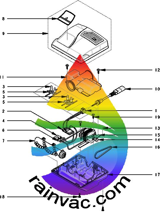 Rainbow Vacuum RainbowMate RM-2E (e SERIES™) Parts